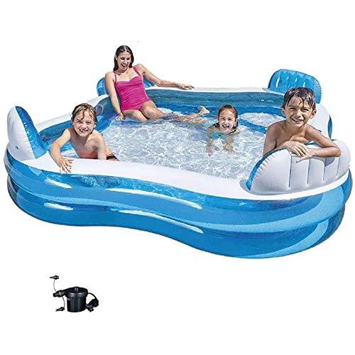 Qazxsw Piscina Inflable/Asiento Trasero Pool Pool/Súper Familia Piscina/Piscina para el océano de los niños/Piscina elevada y Espesada Pool