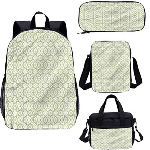 Celtic - Juego de mochilas escolares para niños, diseño de motivos nostálgicos celtas 4 en 1