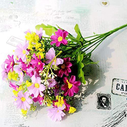 dfgjdryt 1 Stück künstliche Blume Kunstseide Gänseblümchen Wildblumen Grün Sträucher Pflanzen Kunststoff Büsche Innen Bauernhaus Außen Garten Pflanzgefäß Dekoration für Zuhause Dekoration - F4 Mee