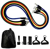 LAZORA Fitness Rally Pull Rope Set Resistance Bands Expander Yoga Exercise Fitness Rubber Tube Bands Stretch Training Home Gyms Workout Elastic Pull Ropes