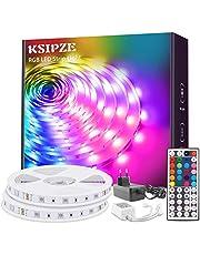 KSIPZE LED-remsa, RGB färgförändring, LED ljuskedja, LED-band,med 44 knappar, fjärrkontroll och strömförsörjning, LED-remsor för belysning av skåp, hemdekoration, bar, kök, fest