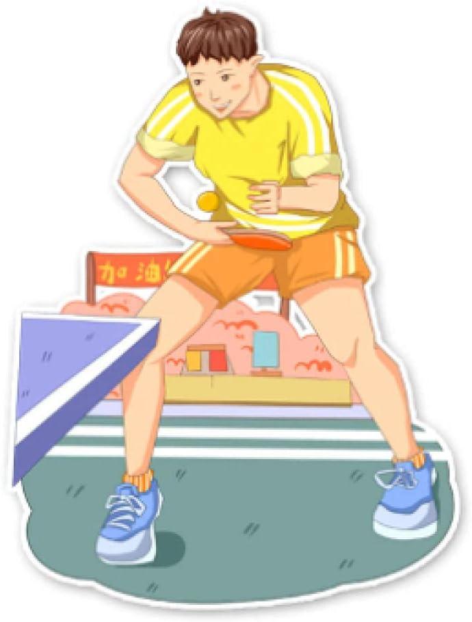 Cbhsjinsuxha 4 Piezas Pegatinas de Coche 13.4 * 10 CM Pegatinas de Coche Ping-Pong Fitness Pegatinas de Coche Accesorios Movimiento