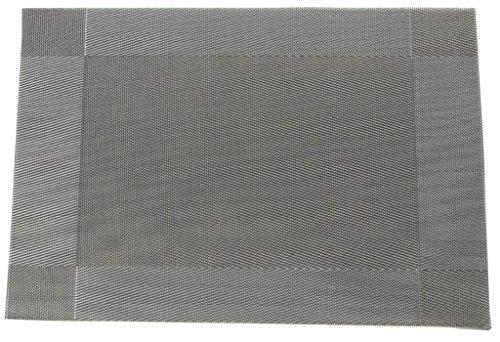 EOZY-Anti-Calore Placemat Tovagliette Grigio di PVC Set of 4 Misura 30 * 45cm