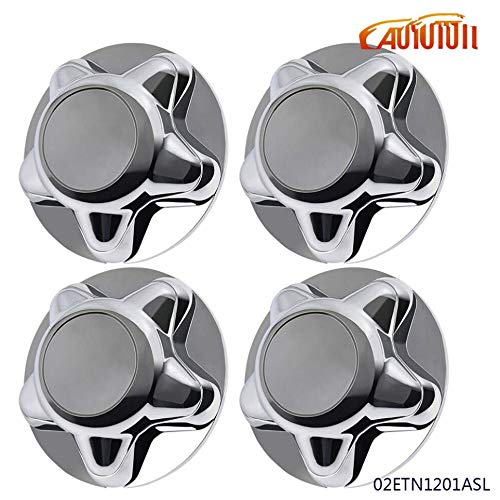 4Pack 7' Chrome Wheel Center Caps Hubcaps Compatible for Ford 1997-2003 F150...