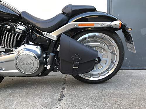 ORLETANOS Odin Black - Bolsa para sillín compatible con Harley Davidson, color negro
