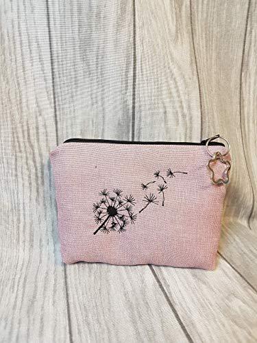Kleine Kosmetiktasche Pusteblume Schminktasche Medikamentasche Kleinigkeit Dandelion rosa