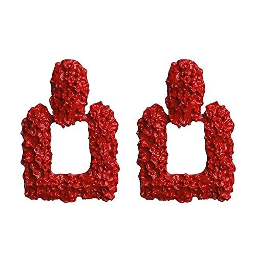 Pendientes Vintage Grandes para Mujer Pendientes Llamativos Pendientes Colgantes Geométricos De Metal Dorado Tendencia Joyería De Moda 62953