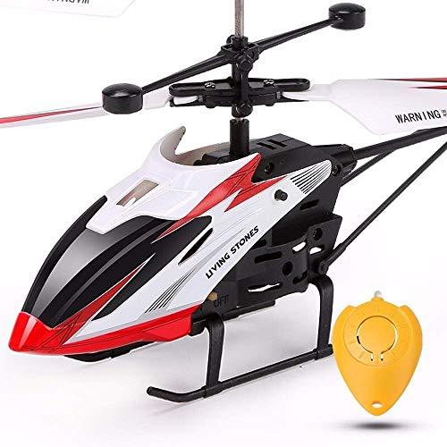THj Resistencia a la caída Control Remoto inalámbrico Avión de inducción Avión de Juguete 3.5CH RC Luz Intermitente por Infrarrojos Helicóptero Sta