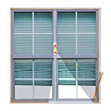 <span class='highlight'><span class='highlight'>Copechilla</span></span> Mosquito net for Windows DIY 1.3m x 1.5m Grey, with Sticky Strip and Zipper, Easy Install and can wash and Durable, Best for Indoor, Outdoor, Plastic, Wood, Aluminum Window