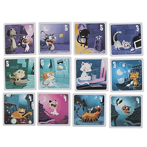 xunlei Juego de Cartas del Tarot 2sets Familia Divertido Juego De Mesa De Entretenimiento Hombre Lobo Y Gato Tarot Tarjeta Deck