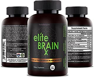 All Natural Brain Supplement – Increases Clarity, Improves Memory & Mood, Boosts Focus & Intelligence - Scientifically For...