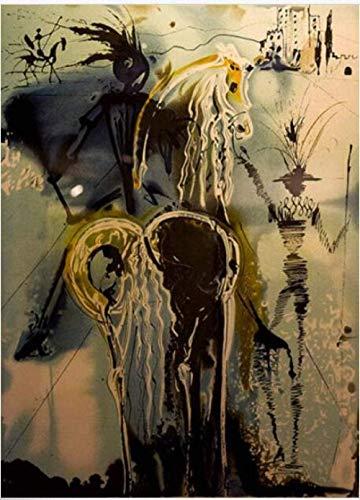 Salvador Dali Don Quijote La Pintura De Puzzles 1000 Piezas Puzle De Madera con Alta Dificultad Brain Challenge Juego Educativo 50X75Cm,Jigsaw Puzzle