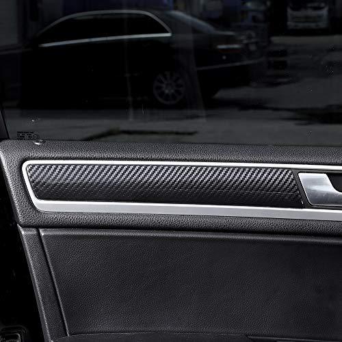 Lot de 4 panneaux de décoration en fibre de carbone pour portières intérieures de voiture Touareg