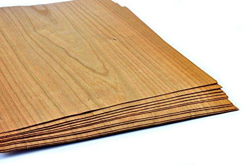 4-5 Furniere in der Holzart Kirschbaum. Furnier geeignet für Modellbau, Ausbesserungsarbeiten, Fotografie, Geschenk, Restauration, DIY, basteln, Intarsien, Schmuck