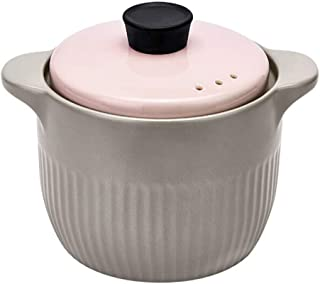 HGFDSA Olla Grande De Cerámica para Cazuela, Olla para Sopa Saludable Resistente Al Calor Hogar para Sopa Dim Sum Verduras Carne Y Pescado para 4-6 Personas, 4l