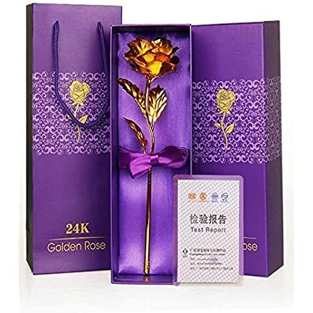 Oblivion Golden Rose Flower with Golden Luxury Gift Box and Beautiful Carry Bag |Best Gift for Girlfriend | Gift for Boyfriend | Gift for Wife | Gift for Husband