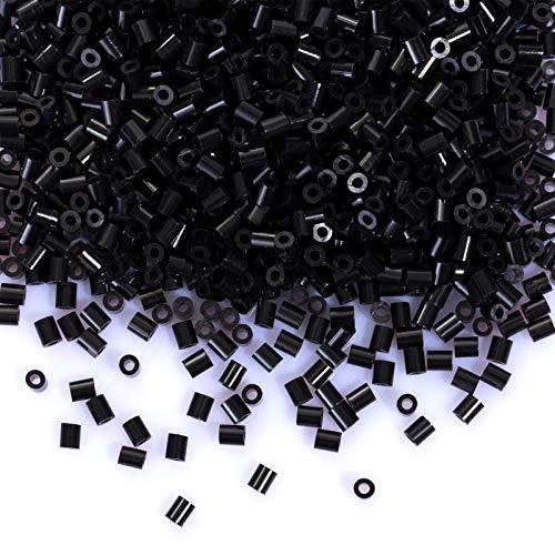 LIHAO 2000 Mini Cuentas para Planchar de 2,6MM Diámetro - Color Negro