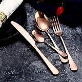 Juego de Cubiertos de Acero Inoxidable Cubiertos de Carne Occidental,para Buffet, Bistro, Camping, Servicio para 6