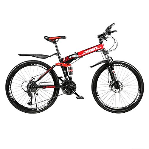 PYX Adult Folding Mountain Bike 26-inch Off-Road Variable Speed Mountain Bike, 21-speed/24-speed/27-speed