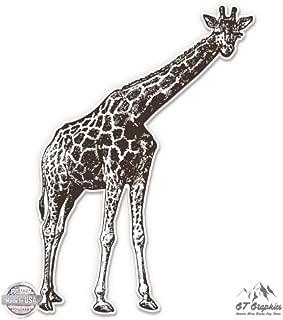 GT Graphics Giraffe Vintage Style - Vinyl Sticker Waterproof Decal