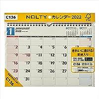 日本能率協会 2022 C136 NOLTYカレンダー壁掛け36