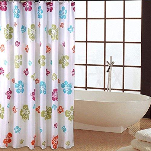 Duschvorhang Polyester Badezimmer Wasserdichter Mehltau Badezimmerzubehör