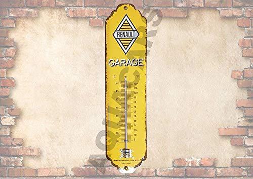 RaceFlag Thermometer, Metall, Lizenzprodukt Renault Garage