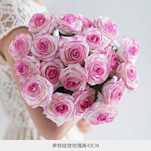 Hand-gevoel vochtinbrengende simulatie roos jurk versierd bloem droge bloem woonkamer eettafel ornamenten decoratieve decoratie simulatie bloem saffraan bloem Blooming 10 wit poeder randen