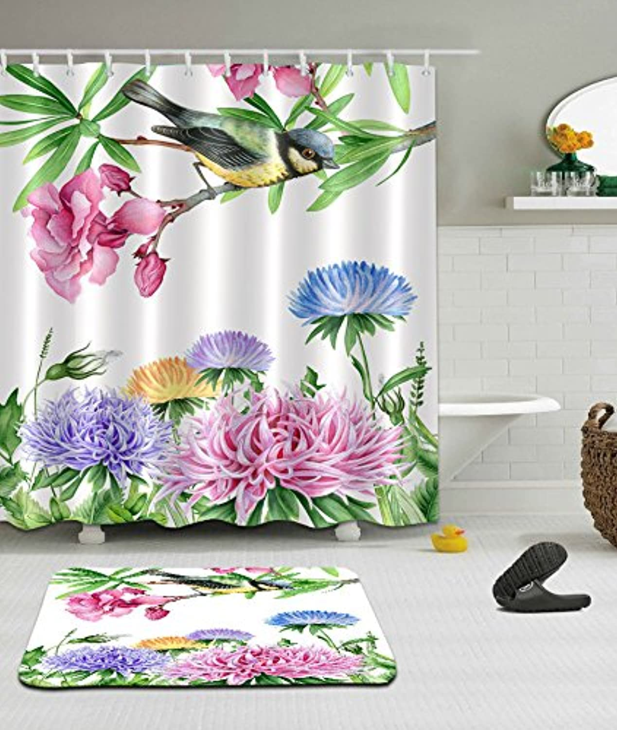 tienda de bajo costo Bath Curtain Rich Rich Rich and Expensive Flower and Bird 3D Personality  garantía de crédito