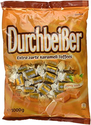 Durchbeisser Karamell – Weiches Toffee mit Karamellgeschmack – Leckere Karamellbonbons zum Naschen – (1 kg Beutel)