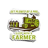 ViralTee 3 PCs Stickers Get Plowed by A Pro Sleep with A Farmer 4 × 3 Inch Die-Cut Decals