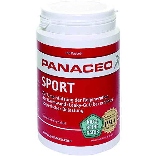PANACEO Sport: Veganes Nahrungsergänzungsmittel aus Dolomit & Zeolith, Darmkur, Leaky-Gut, Kapseln, 180 Stk.