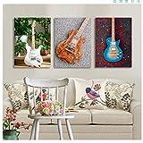 CAPTIVATE HEART Impression sur Toile 3x30x40cm Jazz Guitare électrique oeuvre Murale HD Impression Affiche d'instrument de Musique pour la décoration de la Maison et de la Salle de Musique