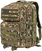 GZ XINXING 43L Large 3 day Molle Assault Pack Military Tactical Army Backpack Bug Out Bag Rucksack Daypack (Woodland)