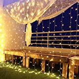 Luces Navidad Led, Cortina de Luces 6x3㎡ Cable de Cobre 600 Led, Resistente al...
