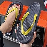 Flip Flop Classico,Pantofole di Sabbia da Uomo a aringhe, Fuori casa-Grigio_44-45,Strappy Sandal
