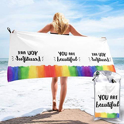 FLDONG Toalla de secado rápido que es una hermosa toalla de microfibra de impresión, ultra suave, compacta y ligera, adecuada para camping, gimnasio, playa, natación, yoga, hogar 81.5 x 163 cm