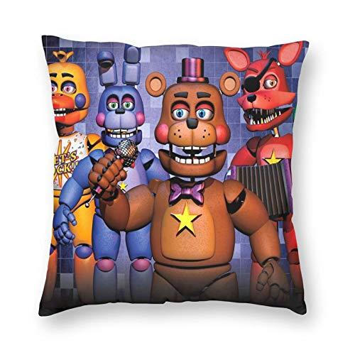 Five Nights At Freddy's Pillow Cover Throw Pillow Cover Fundas de cojín Funda de almohada para la decoración del dormitorio del sofá del hogar 45 X 45 cm (18 '' x 18 '')