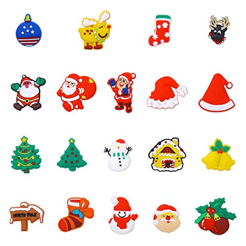 38 Pack Santa Claus Christmas Day Present Shoe Charms for Croc Bracelet Wristband Kids Party Birthday Gifts