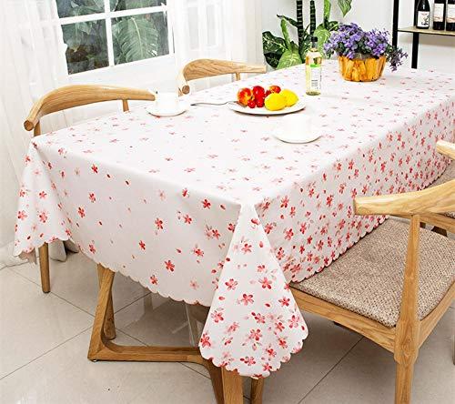 ZZHU Waterdicht, oliedicht, anti-scalding, wegwerp PVC plastic roze tafelkleed