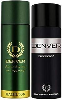 Denver Hamilton 200ml + Black Code 150ml Deodrant spray pack Of 2-For Men