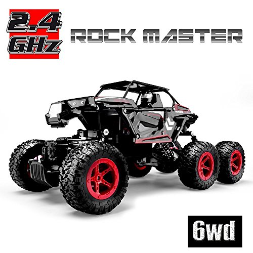 Hosim 6WD RC Rock Crawler, 1:14 Scale 2.4Ghz High Speed 20km/h RTR Off Road Truck Vehicle, All-Terrain 6x6 RC Buggy Climbing Car