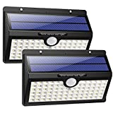 Solar Lights Outdoor, HETP Upgraded 78 LED Solar Motion Sensor Security Lights 2000 mAh Solar Powered Lights Waterproof Wireless Wall Lights Solar Lamps with 3 Intelligent Modes for Outside(2 Pack)