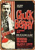 Chuck Berry In Portland Metall Blechschild Retro Metall