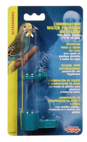 Living World Combo Waterer and Feeder, Small (Colors May Vary)