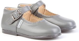 Merceditas de Cuero para Niña. Marca AngelitoS. Modelo 500. Todo Piel. Calzado Infantil Hecho en España