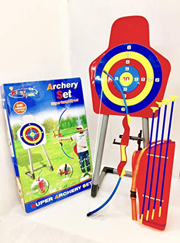 Deluxe Kids Archery Bow And Arrow Toy Set With Bullseye Target Stand Quiver Suction Cup Arrow in the quiver, vancouver, british columbia. the disney experience