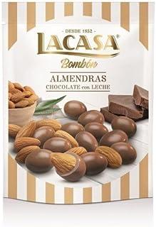 LACASA - BOMBÓN - ALMENDRAS CON CHOCOLATE CON LECHE - 125 GR