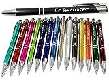 Kugelschreiber mit Gravur - Geschenk hochwertig für jeden. Personalisierter kugelschreiber perfekt als Werbegeschenke, Firmenartikel, Partygeschenke - große Eröffnungen und Messen – Menge: 25