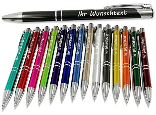 Kugelschreiber mit Gravur - Geschenk hochwertig für jeden. Personalisierter kugelschreiber perfekt als Werbegeschenke, Firmenartikel, Partygeschenke - große Eröffnungen und Messen – Menge: 50
